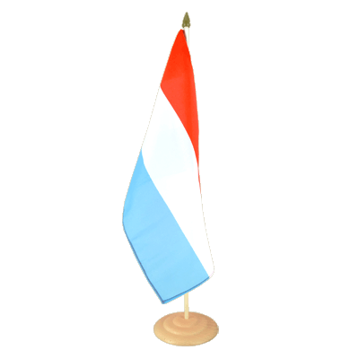 "Large Table Flag Luxembourg - 12x18"", wooden"