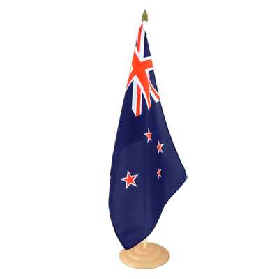 "Large Desk and Table Flag New Zealand - 12x18"", wooden"