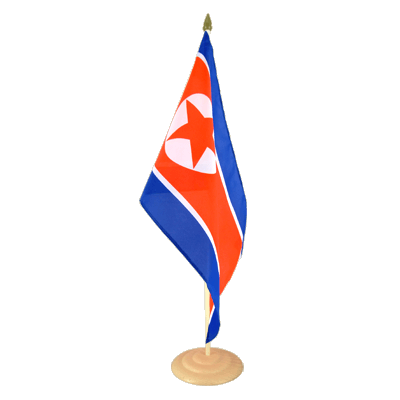 "Large Table Flag North corea - 12x18"", wooden"