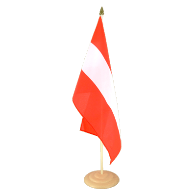 "Large Table Flag Austria - 12x18"", wooden"