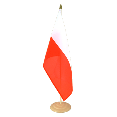 "Large Table Flag Poland - 12x18"", wooden"