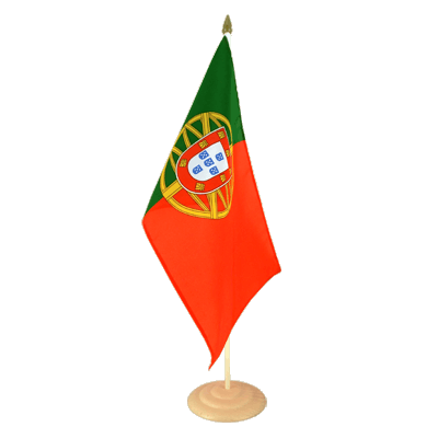 Grand drapeau de table Portugal en bois 30x45 cm