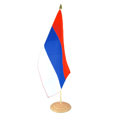 "Large Table Flag Serbia - 12x18"", wooden"