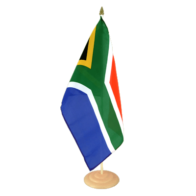 "Large Table Flag South Africa - 12x18"", wooden"
