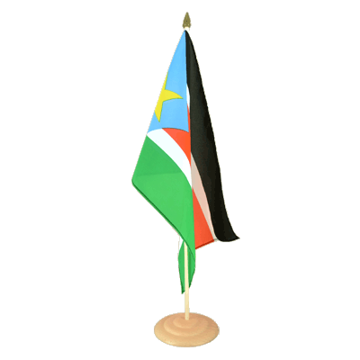 "Large Table Flag Southern Sudan - 12x18"", wooden"