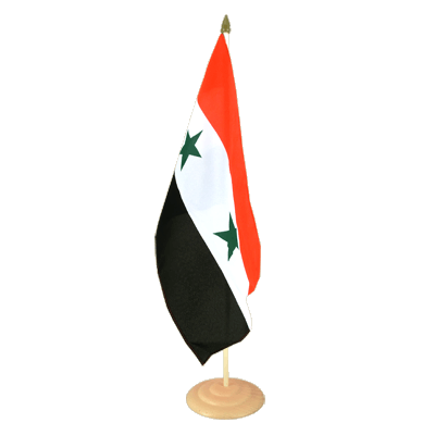 "Large Table Flag Syria - 12x18"", wooden"