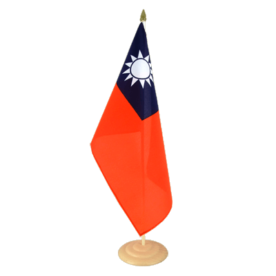 "Large Table Flag Taiwan - 12x18"", wooden"