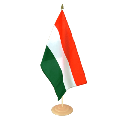 "Large Table Flag Hungary - 12x18"", wooden"