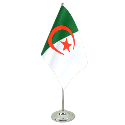 Satin Desk and Table Flag Algeria - 6x9""