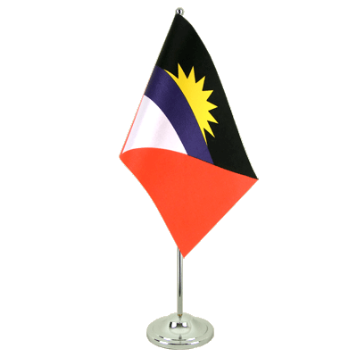 Drapeau de table prestige Antigua et Barbuda 15x22 cm