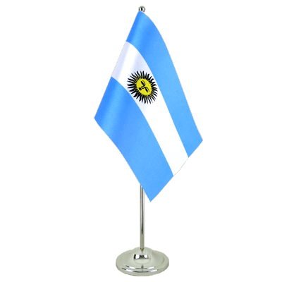 Argentina Satin Table Flag 6x9""