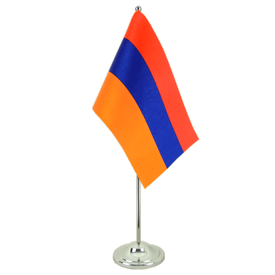 Satin Table Flag Armenia - 6x9""