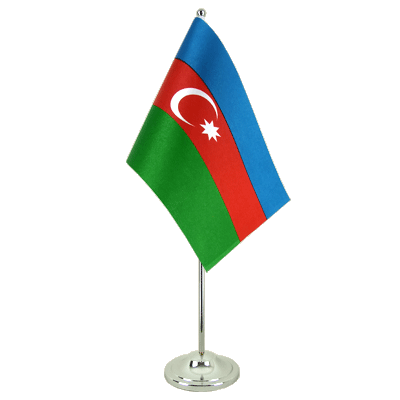 Satin Table Flag Azerbaijan - 6x9""