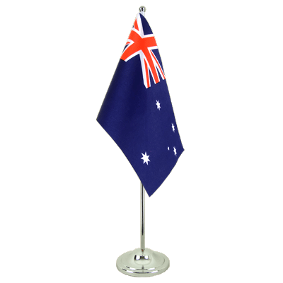 Satin Desk and Table Flag Australia - 6x9""