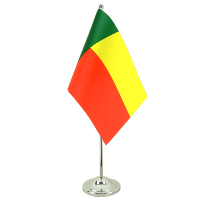 Satin Desk and Table Flag Benin - 6x9""