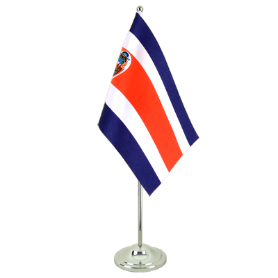 Drapeau de table prestige Costa Rica 15x22 cm