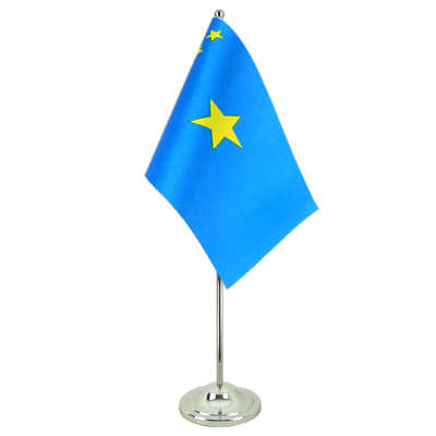 Satin Table Flag Democratic Republic of the Congo old - 6x9""