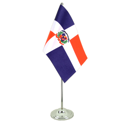 Satin Table Flag Dominican Republic - 6x9""