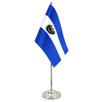 Satin Table Flag El Salvador - 6x9""