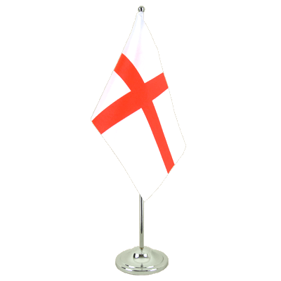 Satin Desk and Table Flag England St. George - 6x9""