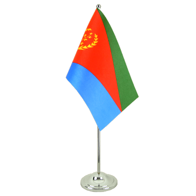 Satin Eritrea Table Flag - 6x9""