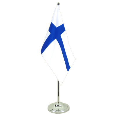 Satin Desk and Table Flag Finland - 6x9""