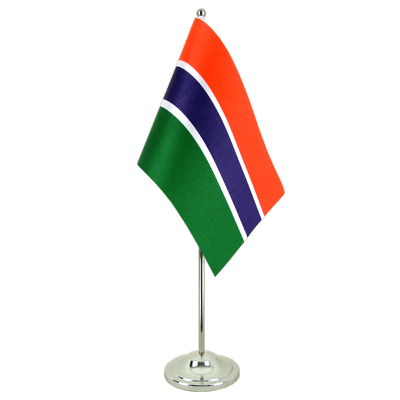 Satin Gambia Table Flag - 6x9""