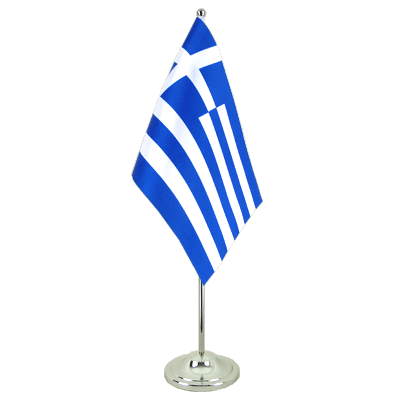 Satin Table Flag Greece - 6x9""