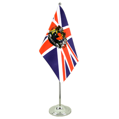 Satin Desk and Table Flag Great Britain with crest - 6x9""