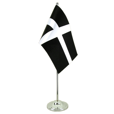 Drapeau de table prestige Saint Piran (St. Piran Cornwall) 15x22 cm