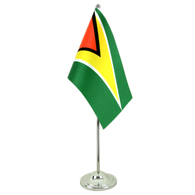 Satin Table Flag Guyana - 6x9""