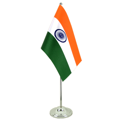 Satin Desk and Table Flag India - 6x9""