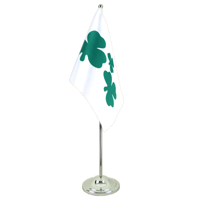 Drapeau de table prestige Shamrock 15x22 cm