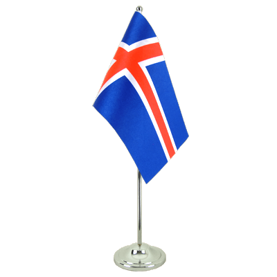 Iceland Satin Table Flag 6x9""