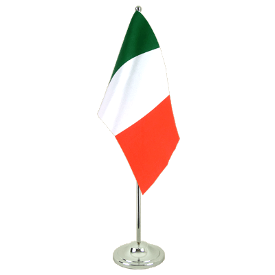 Italy Satin Table Flag 6x9""