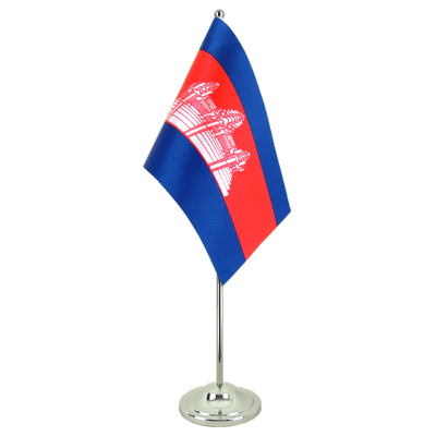 Drapeau de table prestige Cambodge 15x22 cm