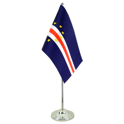 Satin Desk and Table Flag Cape Verde - 6x9""