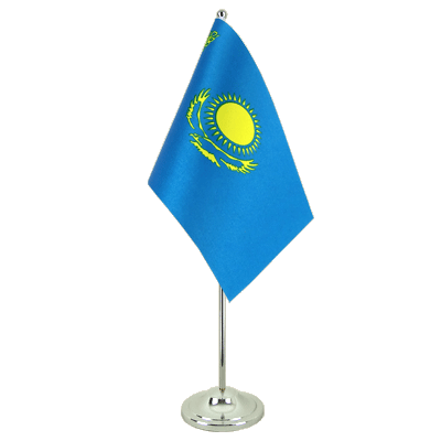 Satin Desk and Table Flag Kazakhstan - 6x9""