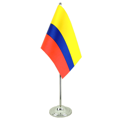 Colombia Satin Table Flag 6x9""