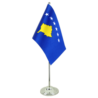 Satin Desk and Table Flag Kosovo - 6x9""