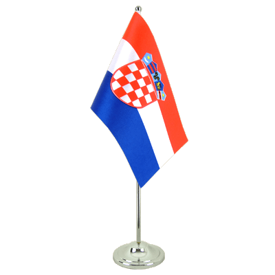 Drapeau de table prestige Croatie 15x22 cm