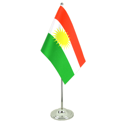 Satin Table Flag Kurdistan - 6x9""