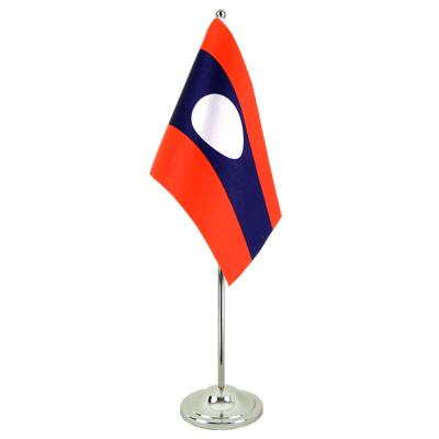 Drapeau de table prestige Laos 15x22 cm