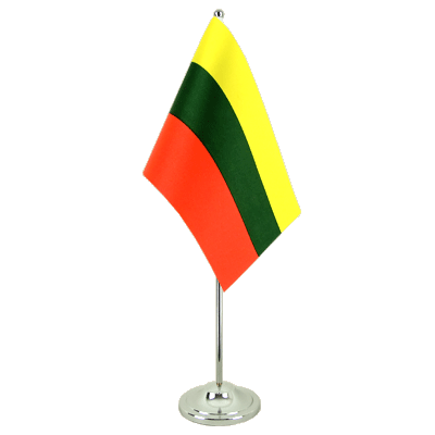 Satin Lithuania Table Flag - 6x9""