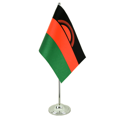 Drapeau de table prestige Malawi ancien 15x22 cm