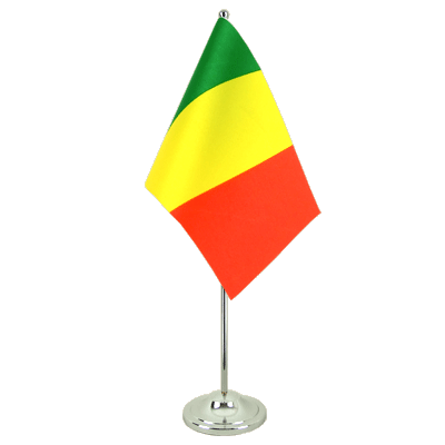 Drapeau de table prestige Mali 15x22 cm