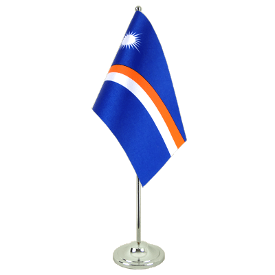 Satin Table Flag Marshall Islands - 6x9""