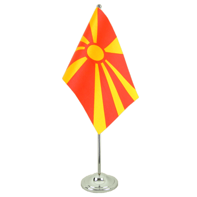 Satin Desk and Table Flag Macedonia - 6x9""