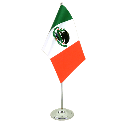 Satin Table Flag Mexico - 6x9""