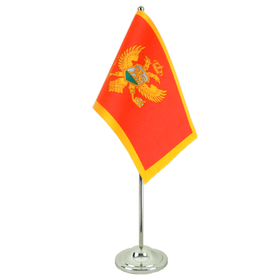 Satin Desk and Table Flag Montenegro - 6x9""